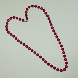 "Jewelry - Fuchsia beaded 28"" Necklace"